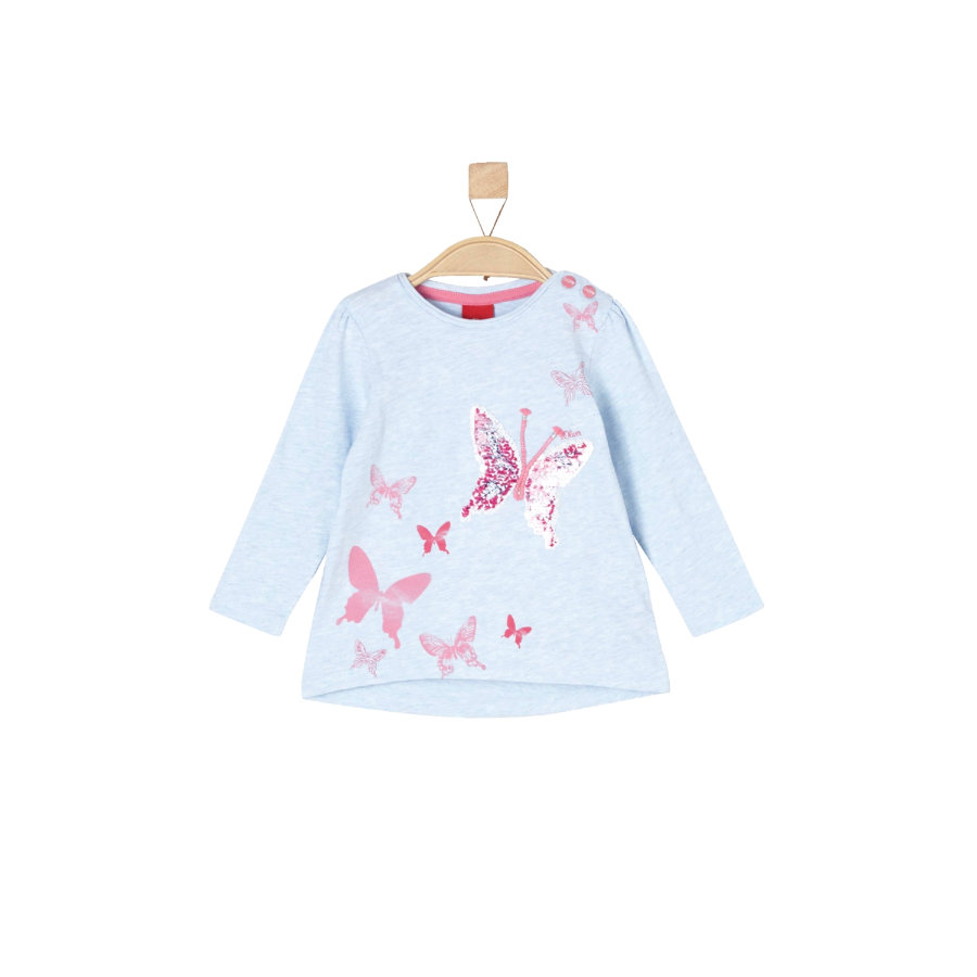 s.Oliver Girls Langarmshirt light blue melange