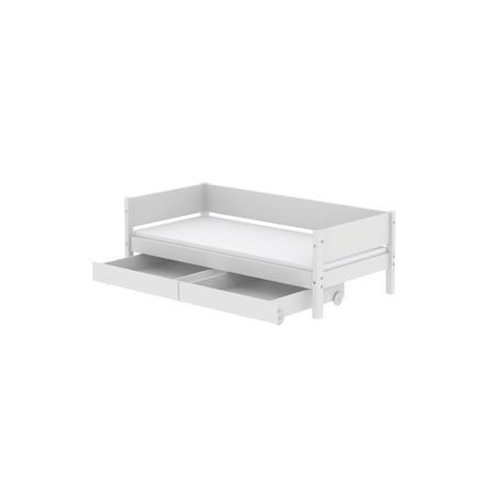 FLEXA Kojenbett White 90 x 200 cm zwei Schubladen weiß