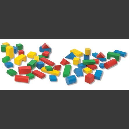 HEROS Bouwsteentrommel Baby Box met 50 gekleurde stenen