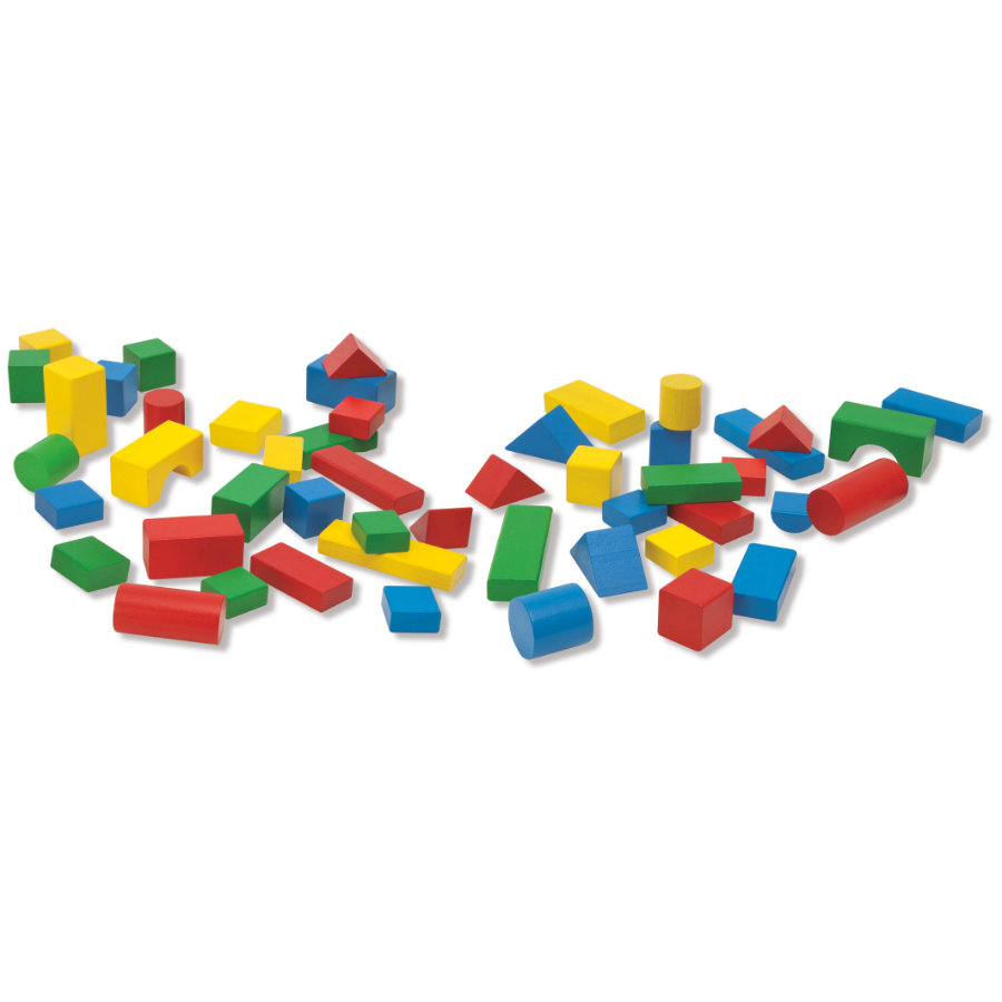 Eichhorn Bausteinetrommel Baby Box mit 50 bunten Steinen