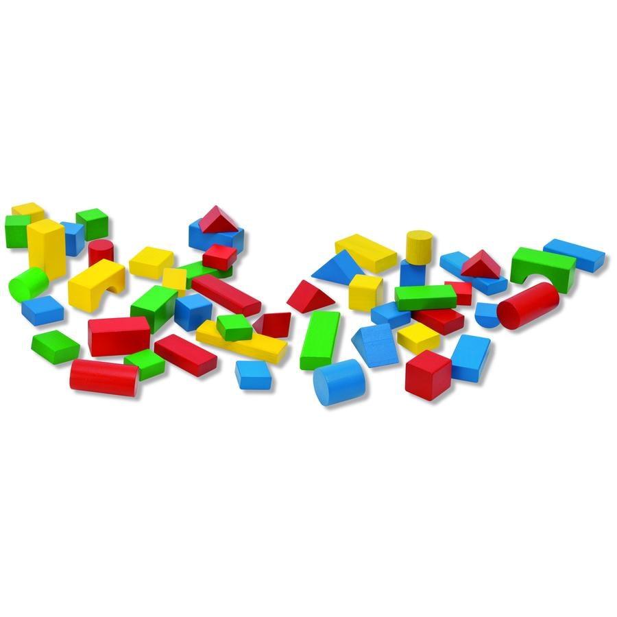 HEROS Kyblík plný kostek na stavení, 50 kostek