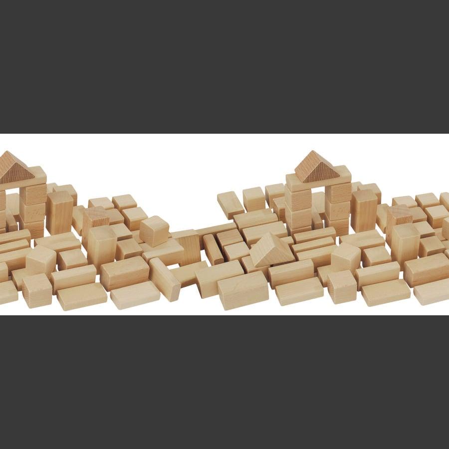 HEROS Baril de construction de 50 briques bois naturel 100050131