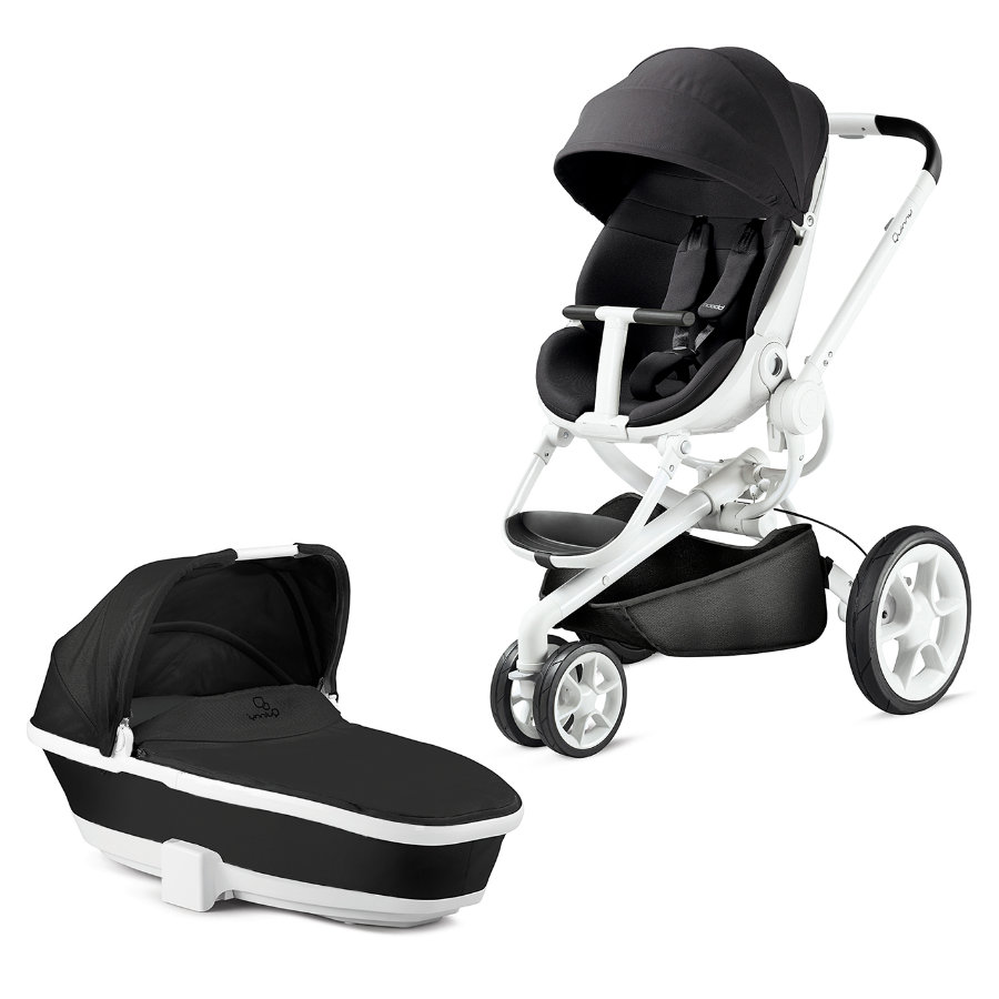 quinny kinderwagen moodd black irony gestell wei mit kinderwagenaufsatz baby. Black Bedroom Furniture Sets. Home Design Ideas