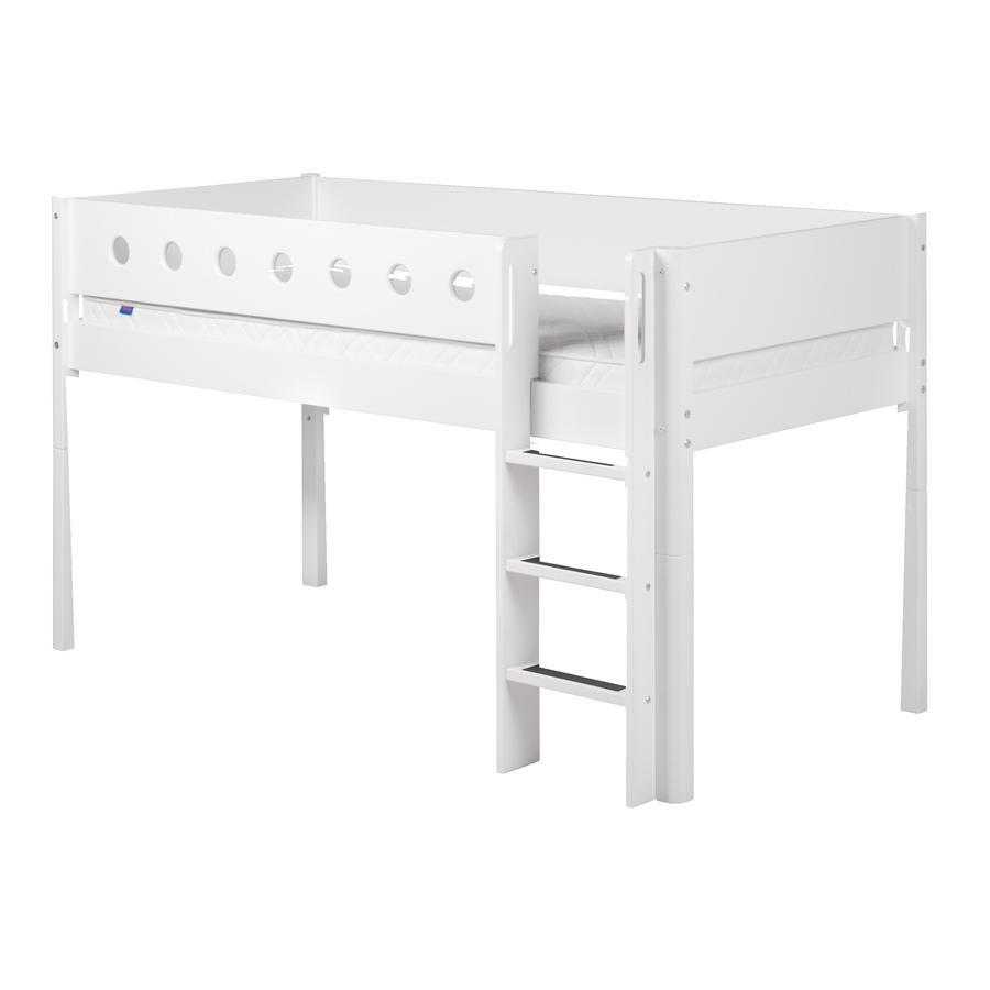 FLEXA Halbhochbett White 90 x 200 cm weiß / weiß