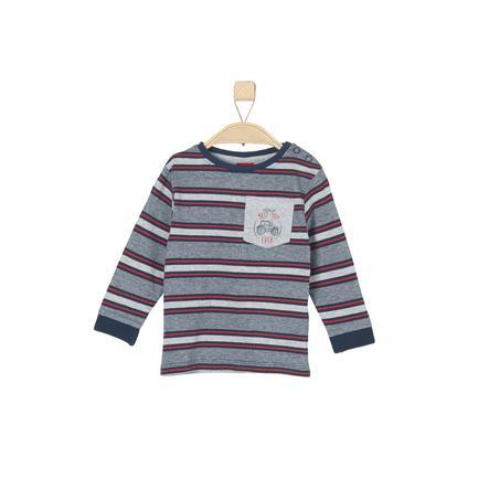 s. Olive r Chlapecký dlouhý rukáv tmavě modrý stripes
