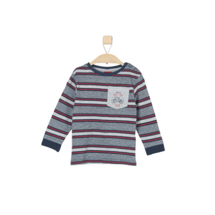 s.Oliver Boys Camisa de manga larga rayas azul oscuro