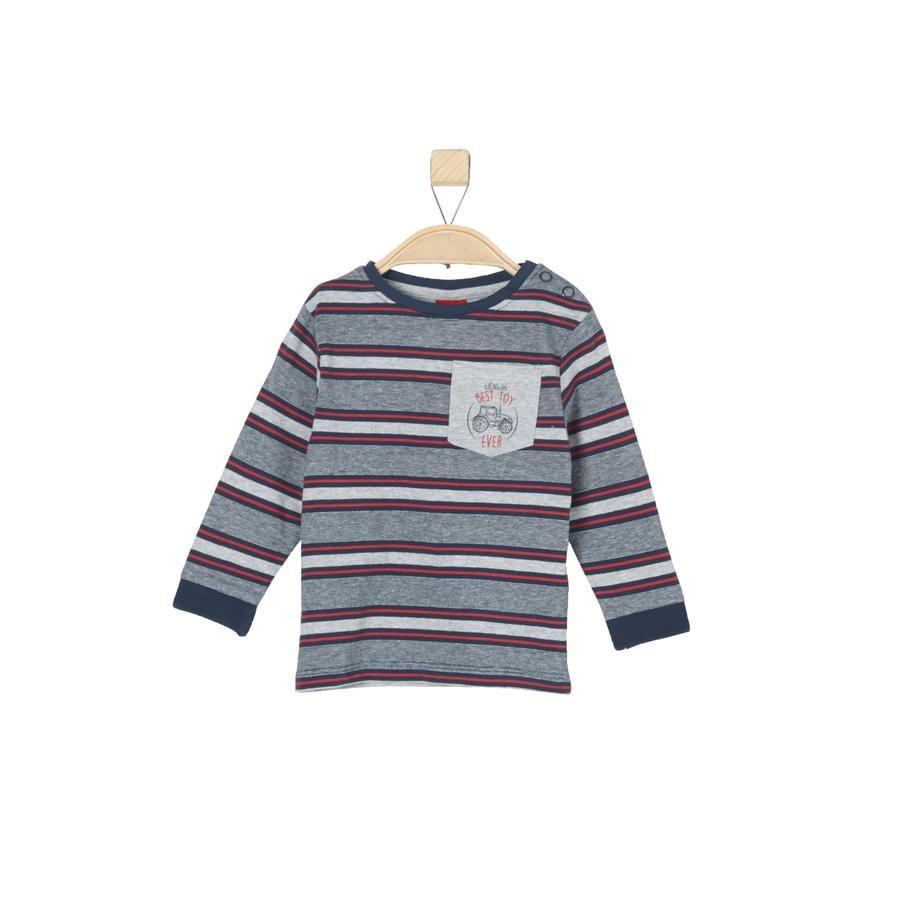 s.Oliver Boys Shirt met lange mouwen donkerblauwe strepen
