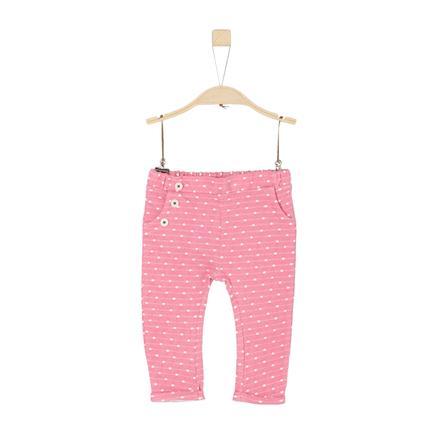 s.Oliver Girl s joggingbroek purper/roze breisel
