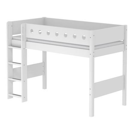 FLEXA Mittelhochbett White 90 x 200 cm weiß / weiß