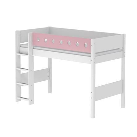 FLEXA Mittelhochbett White 90 x 200 cm weiß / rosa