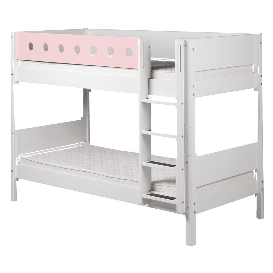 FLEXA Etagenbett White 90 x 200 cm weiß / rosa