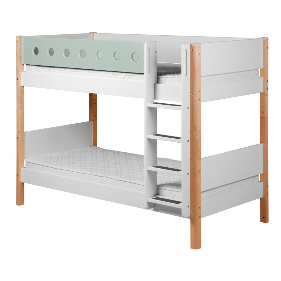Verschiedene Flexa Bett Zubehör Referenz Von Etagenbett White 90 X 200 Cm Natur