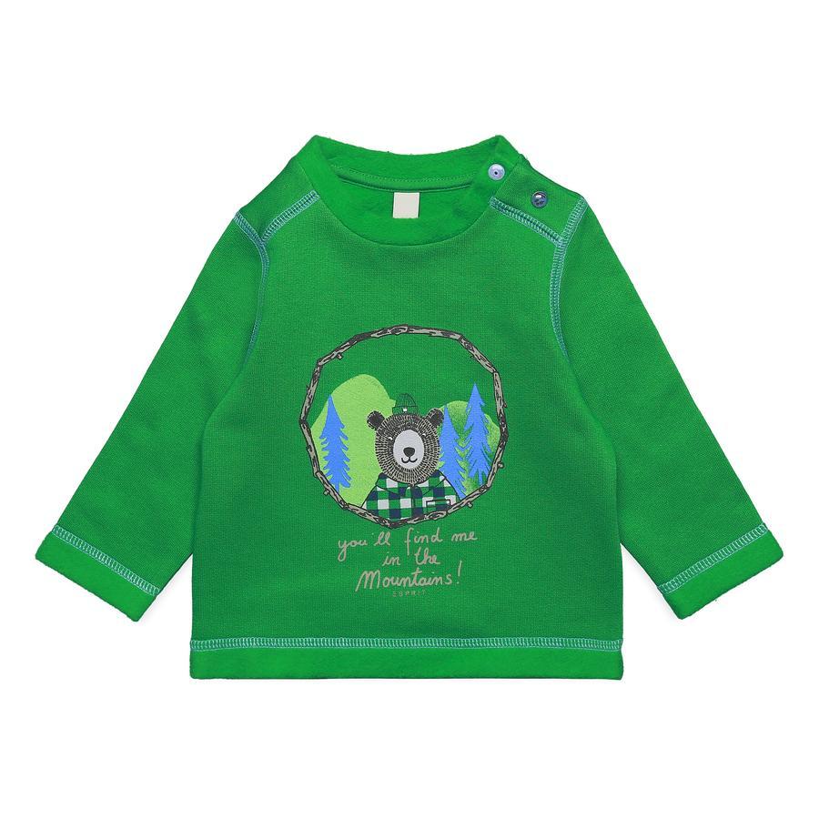 ESPRIT Boys Sudadera verde brillante