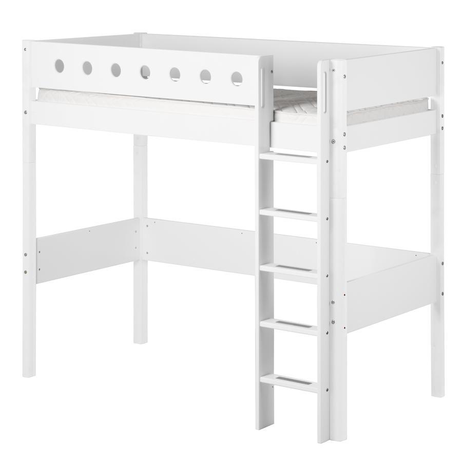 FLEXA Hochbett White 90 x 200 cm weiß / weiß