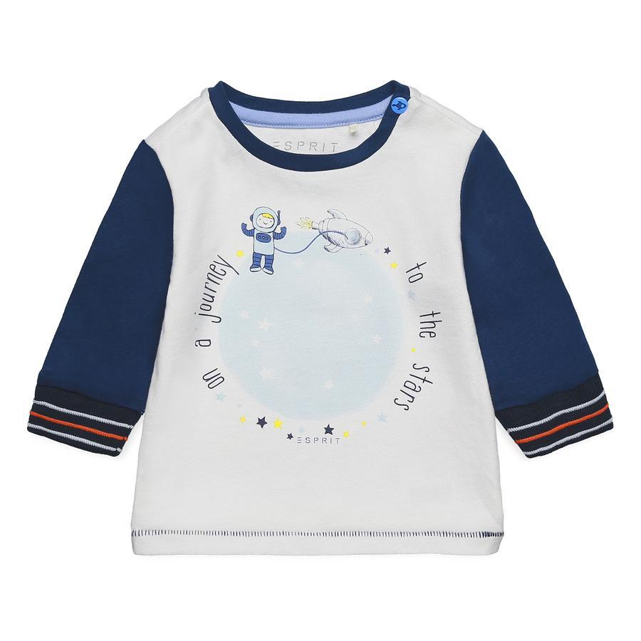 ESPRIT Chlapecké tričko s dlouhým rukávem mid night  modrá