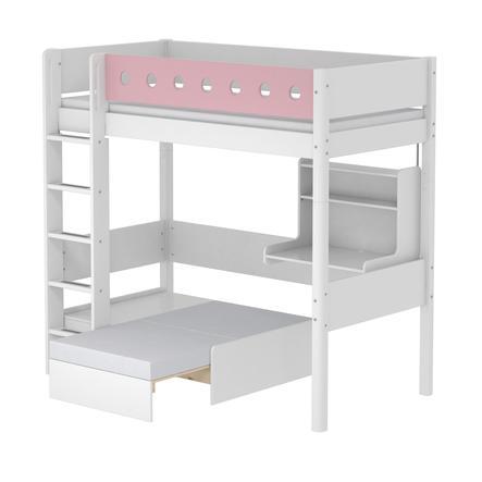 FLEXA Casa Hochbett White 90 x 200 cm weiß / rosa