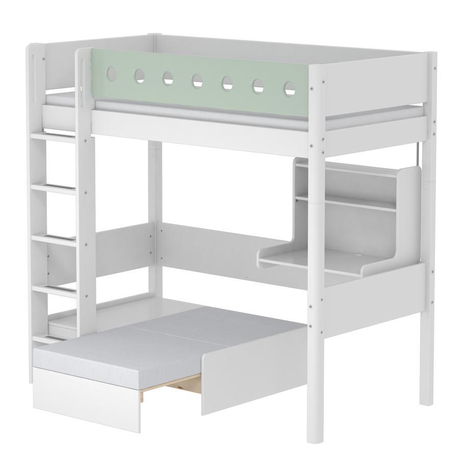 FLEXA Casa Hochbett White 90 x 200 cm weiß / mintgrün