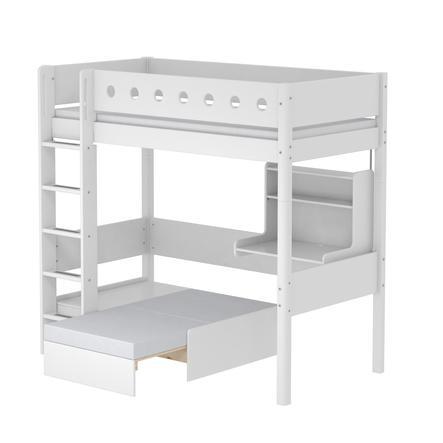 FLEXA Casa Hochbett White 90 x 200 cm weiß / weiß