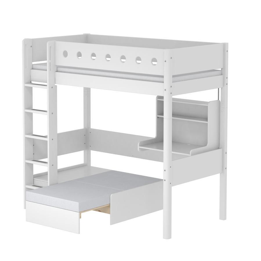 Flexa Casa Hochbett White 90 X 200 Cm Weiß Weiß Babymarktde