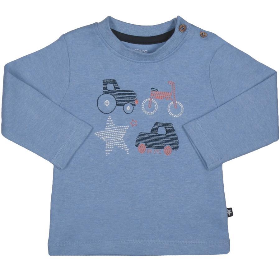 STACCATO Koszula z długim rękawem w kolorze niebieskim melanżowym.