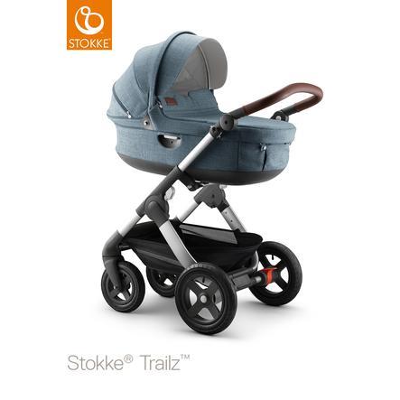 STOKKE® Trailz™ Nordic blue Gestell und Babyschale mit Geländerädern Exclusive Edition