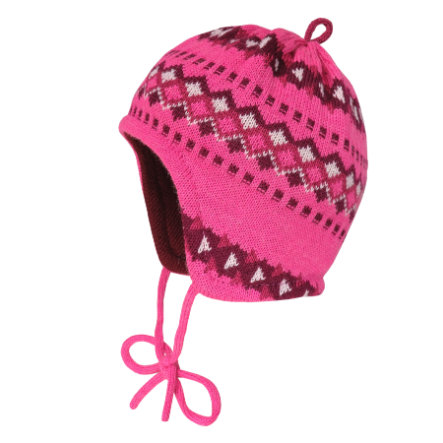 maximo Girl s Cap Jacquard roze melange