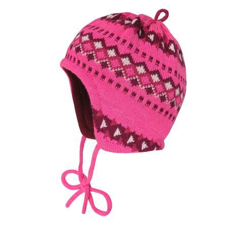 maximo Girls Čepice Jacquard pink melange