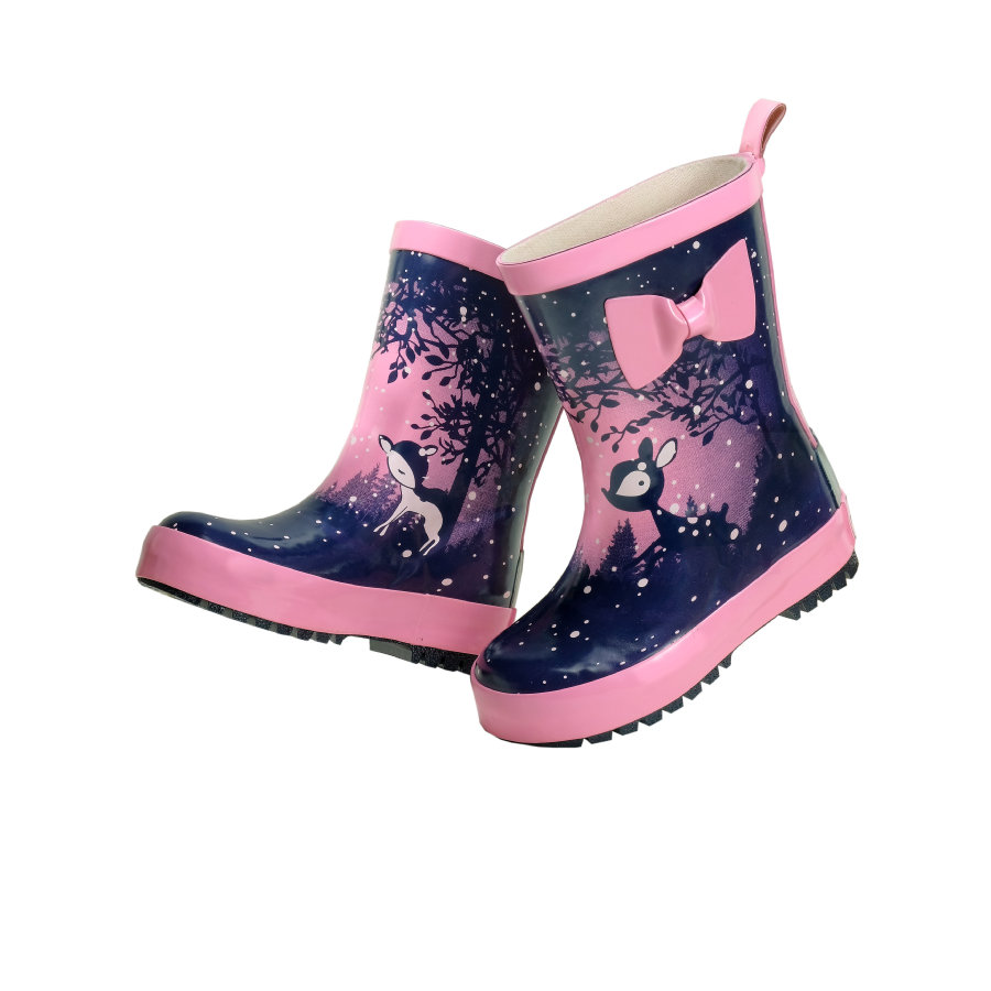 maximo Girl s buty gumowe fawn navy/almond blossom