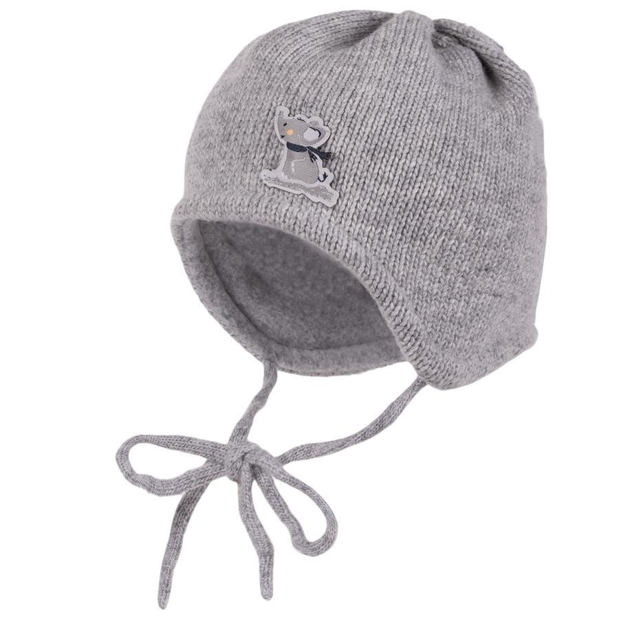 maximo Mütze Wollmix Tiere graumelange-elefant