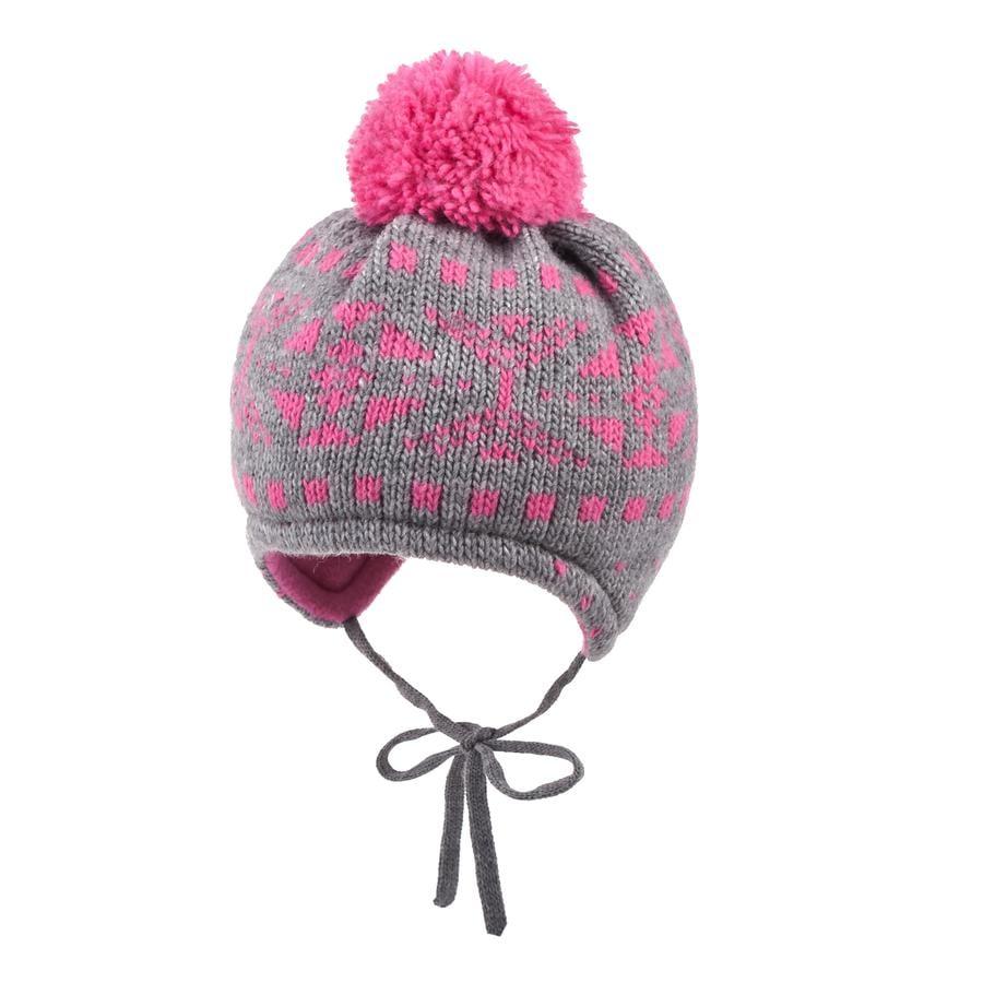 maximo Mütze Jacquard metallmelange/ pink