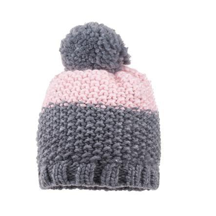 maximo Girl s Cappello Pompon grigio medio melange/rosa pallida