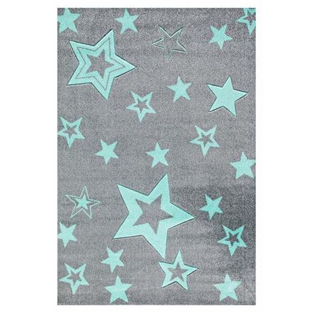 LIVONE Tapis enfant Happy Rugs Starlight gris/menthe 100 x 160 cm