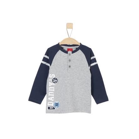 s.Oliver Boys Koszula z długim rękawem, jasnoszary melange