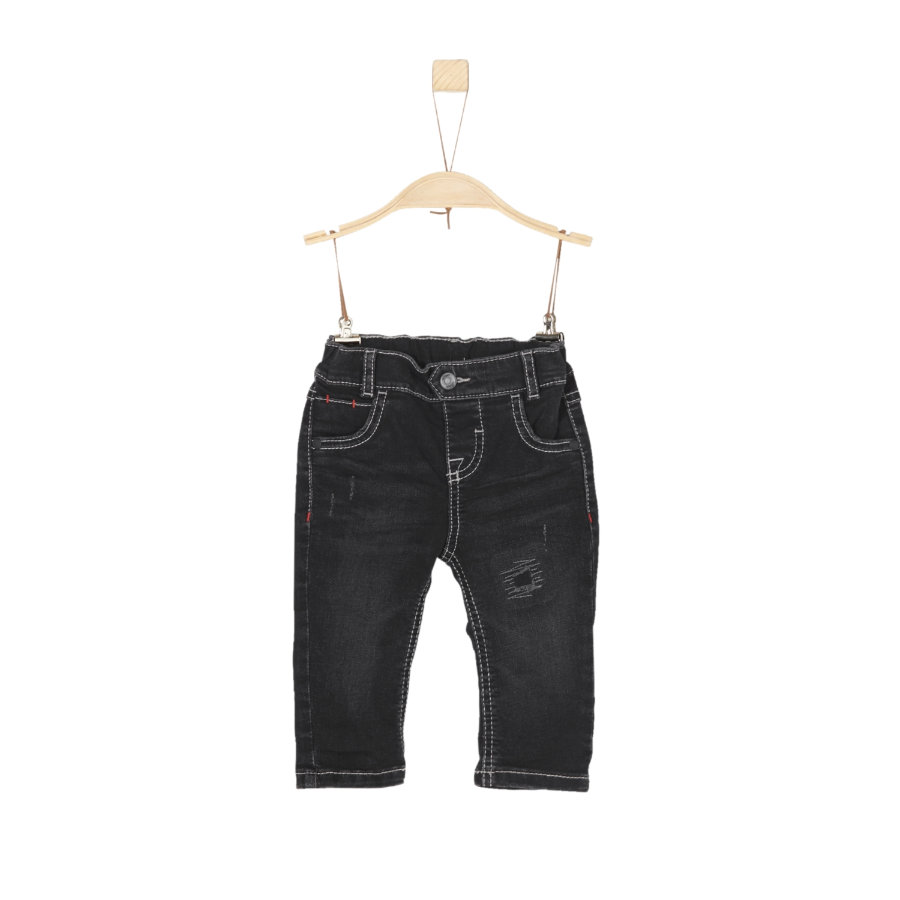 s.Oliver Boys Hose grey/black denim stretch