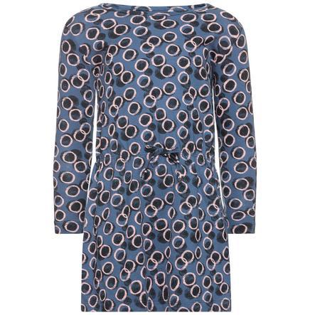 name it Girl s jurk fluwelen vaandrig blauw