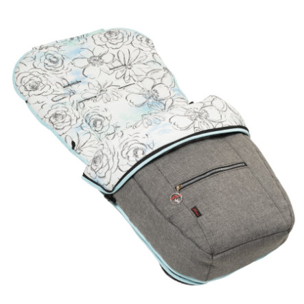 Hartan Fußsack Sommer/Winter tropical grey (732)