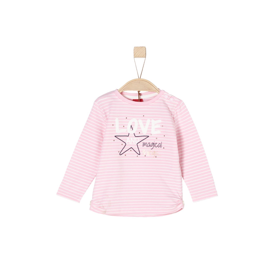 s.Oliver Girls Langarmshirt light pink stripes