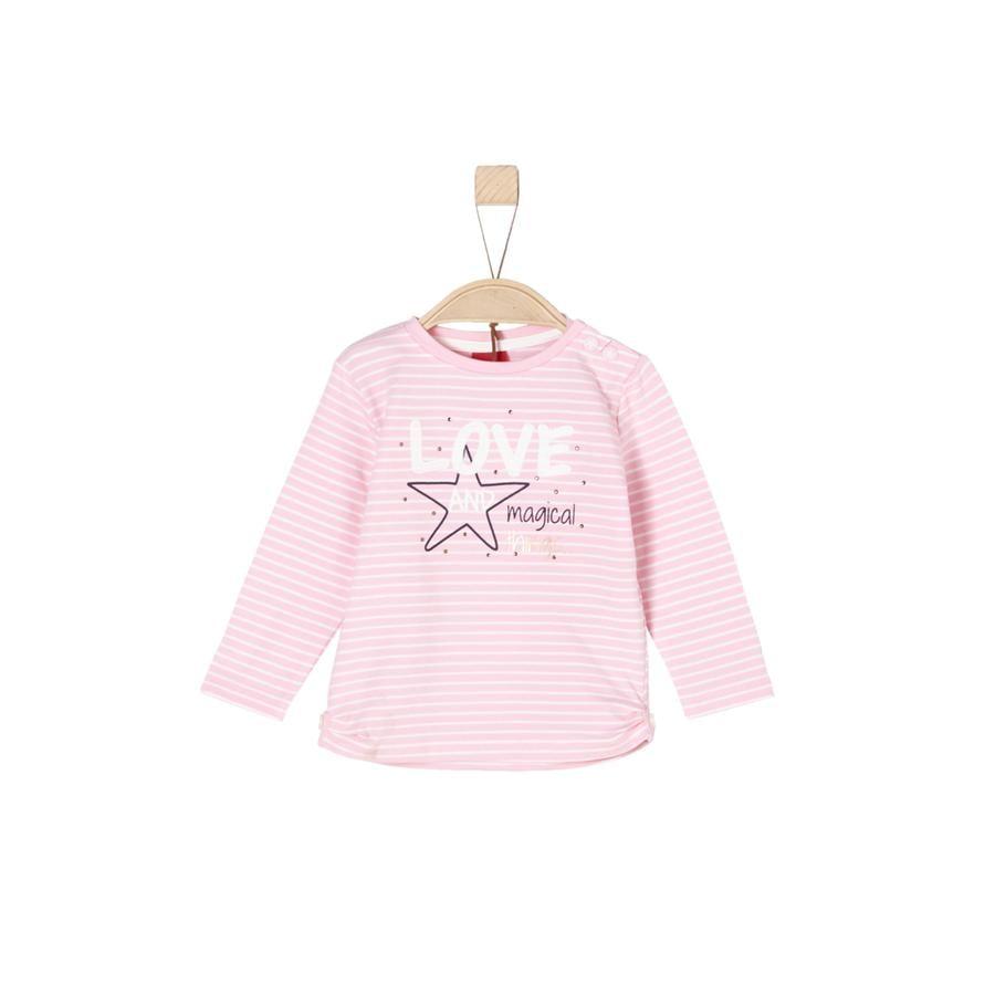 s.Oliver Girls Langermet skjorte rosa striper