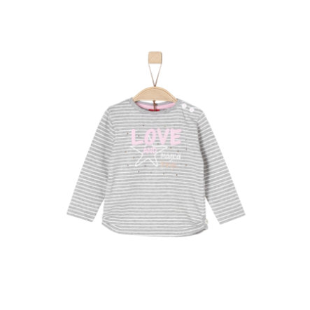 s.Oliver Girls Langarmshirt grey stripes