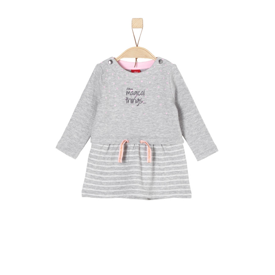 s.Oliver Girls Sweatkleid light grey melange