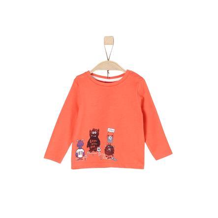 s.Oliver Boys Koszula z długim rękawem pomarańczowa