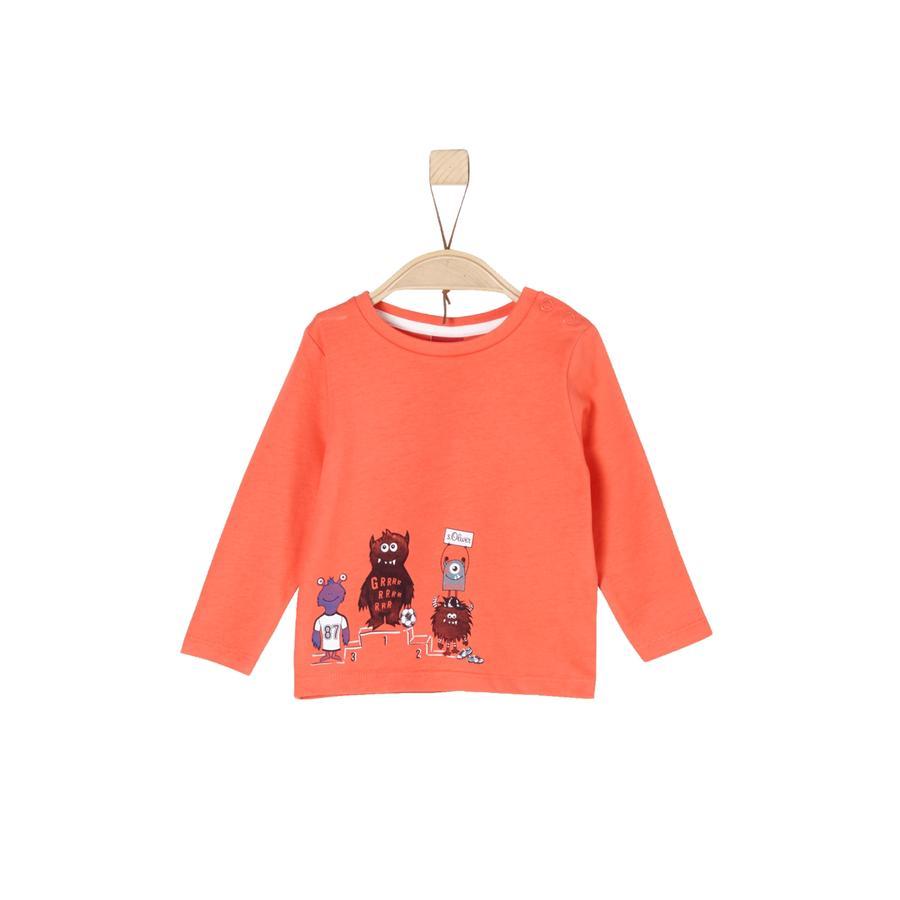s.Oliver Boys Langarmshirt orange