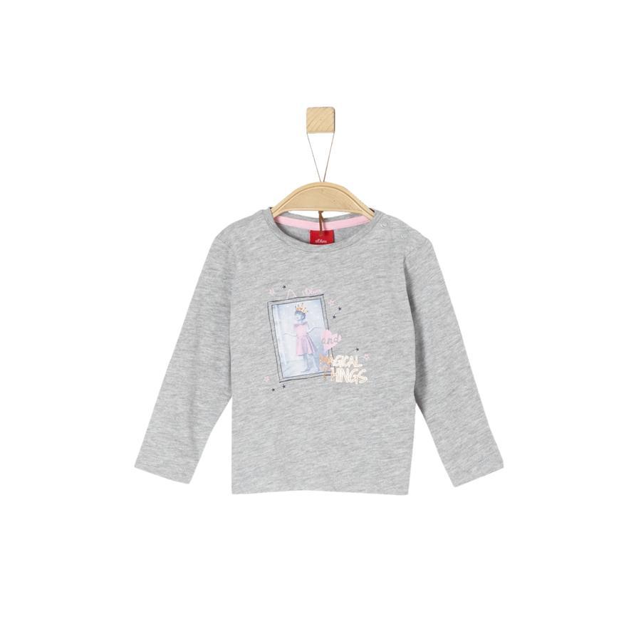 s.Oliver Girl s Camicia manica lunga grigio chiaro melange grigio chiaro
