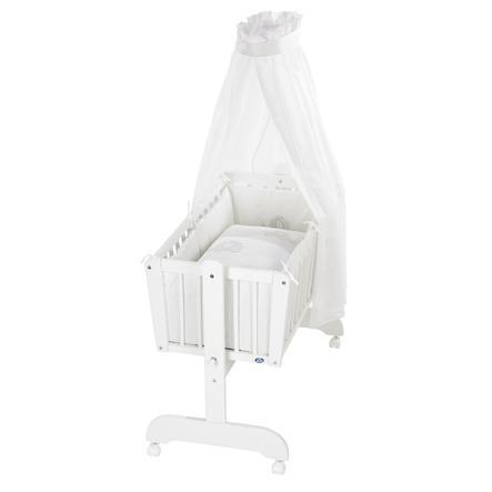 Alvi® Komplettpendelwiege Sina weiß 865-9 Streifenfant