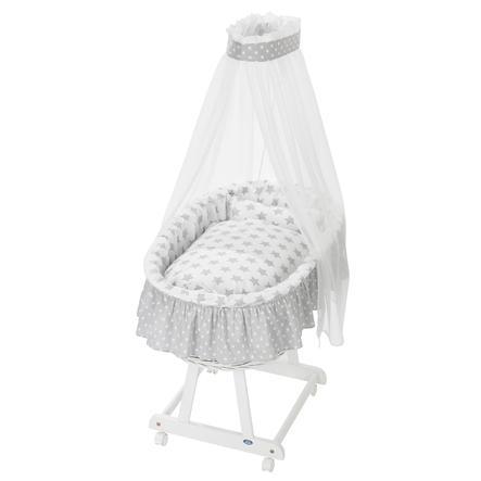 ALVI Vauvan korisänky Jola, valkoinen, 608-9 hopeiset tähdet