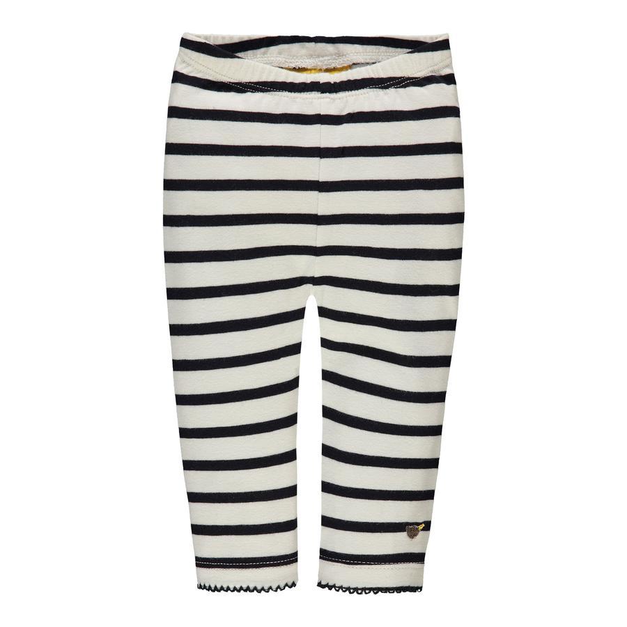 Steiff Girls Leggings, blau/weiß