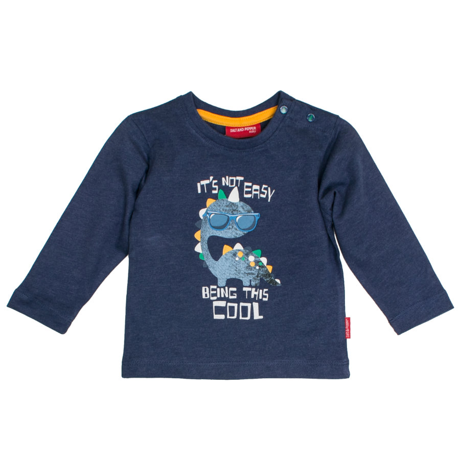 SALT AND PEPPER Chemise Boys manches longues Dino cool encre bleue