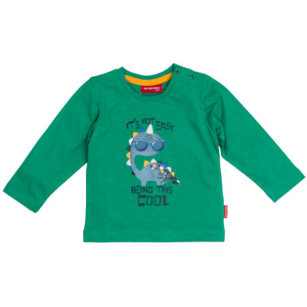 SALT AND PEPPER Langarmshirt Boys Dino cool green melange