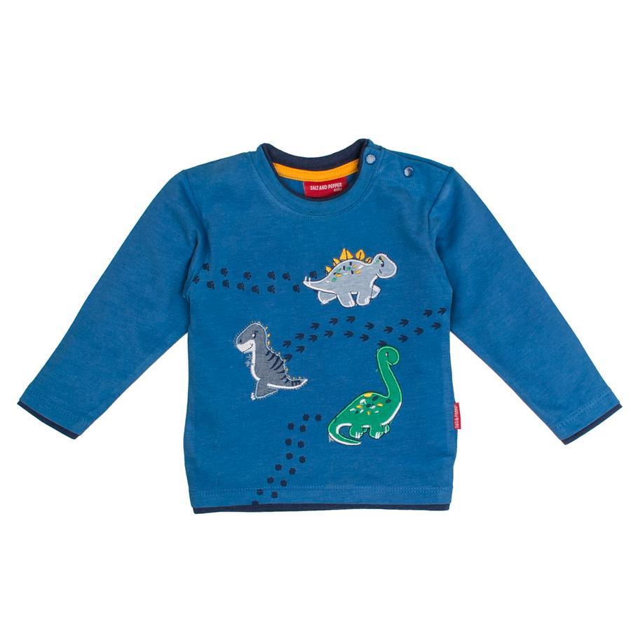 SALT AND PEPPER Langarmshirt Boys Dino drei artic blue