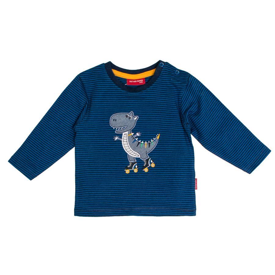 SALT AND PEPPER Langarmshirt Boys Dino stripe artic blue